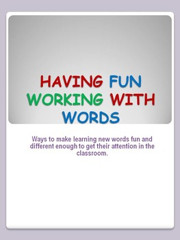 Working With Words