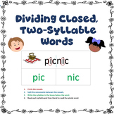 Dividing Closed, Two-Syllable Words