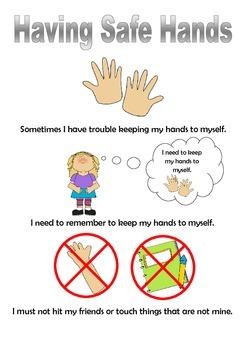 Having Safe Hands Social Story - girl version