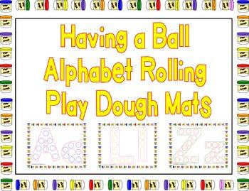 Having a Ball Alphabet Rolling Play Dough Mats