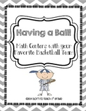 Having a Ball!  Math Centers Using your Favorite Baseball Team!