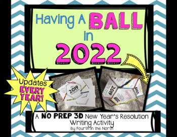 Having a Ball New Year's Resolution 3D Writing Activity