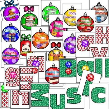 Having a Ball in Music Christmas Bulletin Board