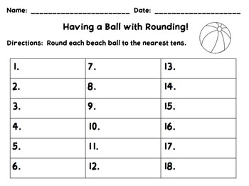 Having a Ball with Rounding! {to the nearest tens}