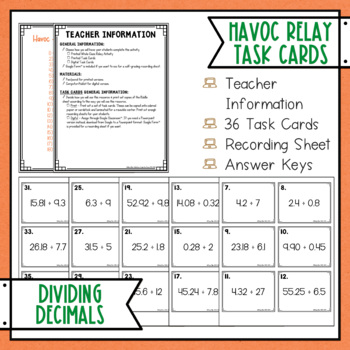 Dividing Decimals Havoc Relay