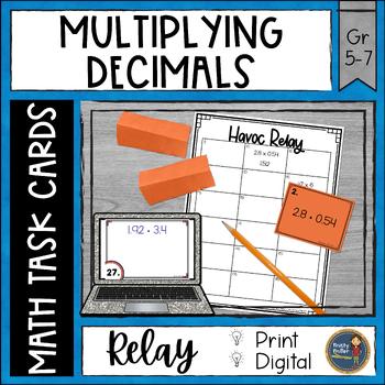Multiplying Decimals Havoc Relay