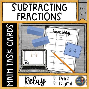 Subtracting Fractions Uncommon Denominators Havoc Relay