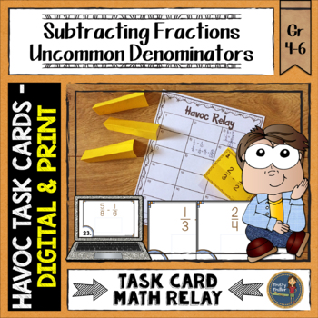 Subtracting Fractions Uncommon Denominators Havoc Relay