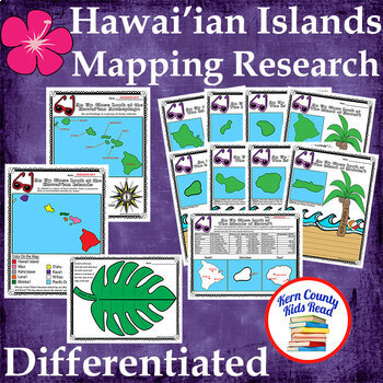 Hawai'ian Islands Mapping Research Skills Unit - Differentiated