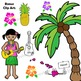 Hawaii State Symbols and Map Clipart