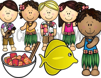 Hawaii, Aloha, Vacation Clipart Set! COLOR ONLY