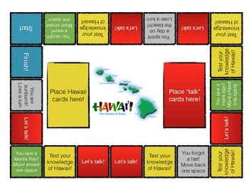 Hawaii Board Game for ELL / ESL / EFL Learners