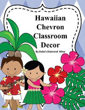 Hawaii Classroom Decor with blue plaid