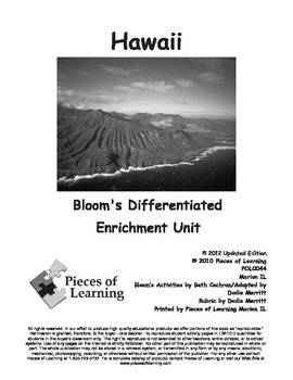 Hawaii - Differentiated Blooms Enrichment Unit