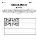 Hawaii Flag & Create Your Own Flag Worksheet