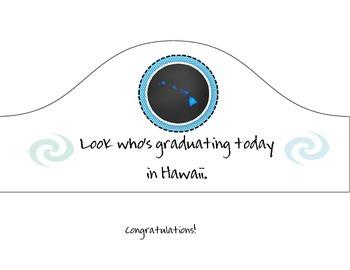 Hawaii Graduation Hat