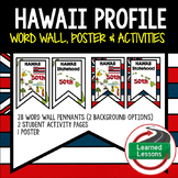 Hawaii History Word Wall, State Profile, Activity Pages