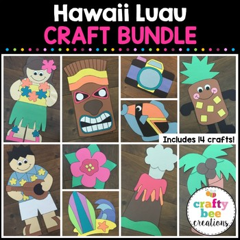 Hawaii Luau Cut and Paste Set