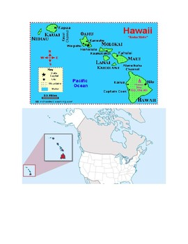 Hawaii Map Scavenger Hunt