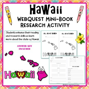 Hawaii Webquest Mini Book Research Activity