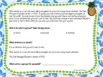 Hawaii Nonfiction Boom Cards