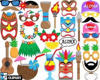 Hawaii Props - Clip Art Digital Files Personal Commercial Use cod256