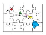 Hawaii Puzzle Map Fun
