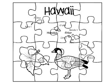 Hawaii Puzzle Map Set