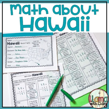 Math about Hawaii State Symbols through Subtraction Practice
