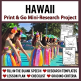Hawaii Research: Print & Go USA Presentation and Speech Templates