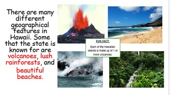All About Hawaii State Book and Powerpoint