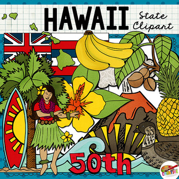 Hawaii State Clip Art