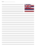 Hawaii State Flag Lined Paper
