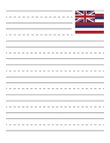 Hawaii State Flag Primary Lined Paper