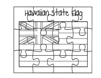 Hawaii State Flag Puzzle