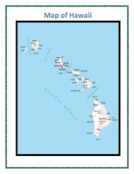 Hawaii State Geography Maps, Flag, Data and Assessment
