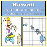 Hawaii State Latitude and Longitude Coordinates Puzzle - 77 Points to Plot