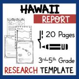 Hawaii State Research Report Project Template + bonus timeline Craftivity HI