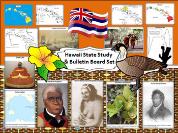 Hawaii State Study & Bulletin Board Set