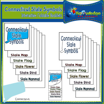 Connecticut State Symbols Interactive Foldable Booklets