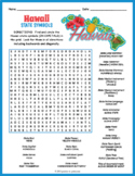 HAWAII State Symbols Word Search Puzzle Worksheet Activity