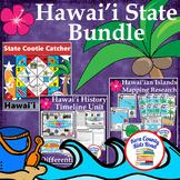 Hawaii State Thematic Unit Bundle: Timeline, Islands Resea