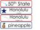 Hawaii State Word Wall Bulletin Board Set. Geography Curriculum.