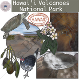 Hawaii Volcanoes National Park Clip Art Set