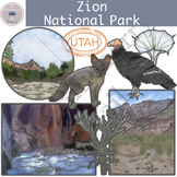 Zion National Park Clipart Set
