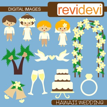 Hawaii Wedding Clipart