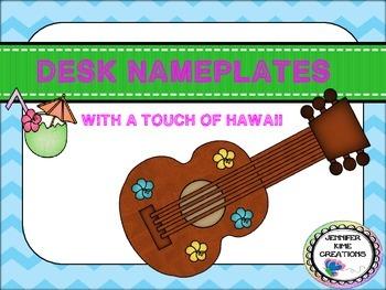 Hawaii/Luau Desk Nameplates