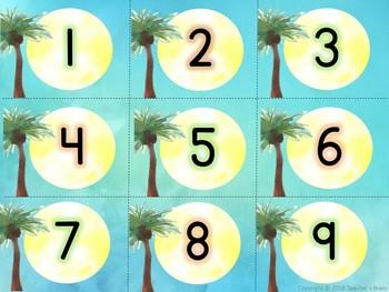 Hawaiian Beach Classroom Decor Calendar Set - Editable