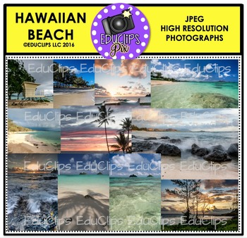 Hawaiian Beach Photo Set {Educlips}