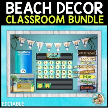 Hawaiian Beach Themed Classroom Decor BUNDLE